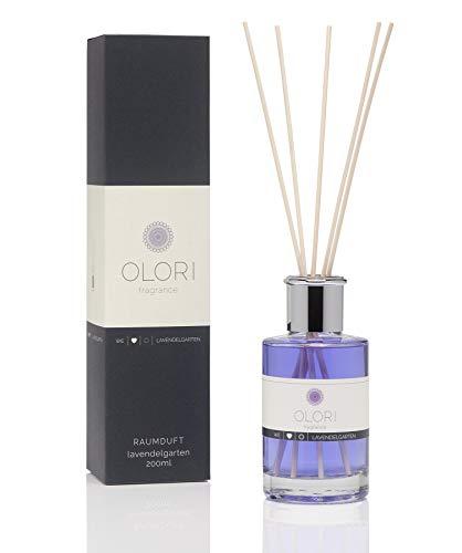 Bio-lavendel-bad (OLORI Reed Raumduft - Lavendelgarten - 200 ml - verschiedene Sorten - natürlich, langanhaltend, blumig)
