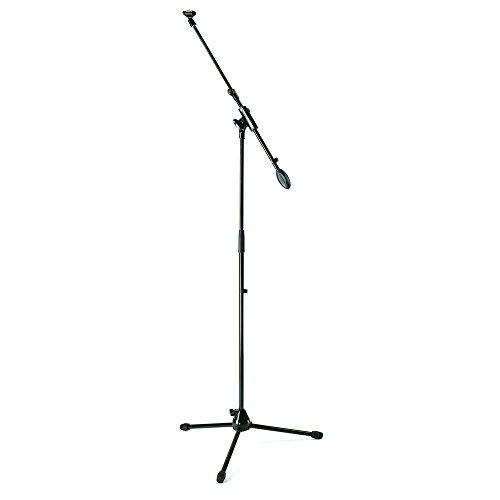 Samson MK5 Pack Mikrofonständer (Stativ, Mikrofonzange, Abschirmung, XLR-Kabel 5m), Schwarz