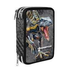 Astuccio Scuola 2020 3 Zip Completo Jurassic World