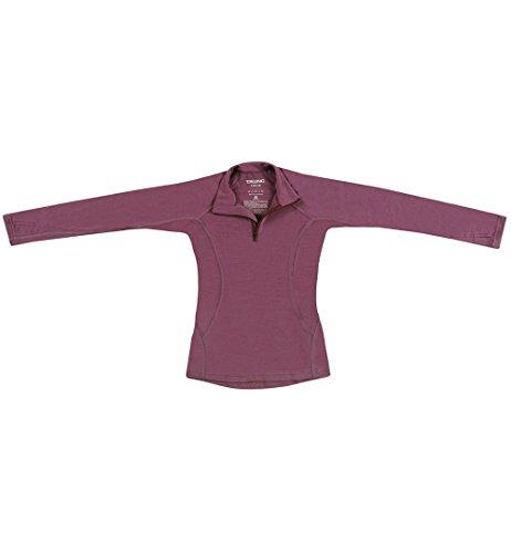 Dilling Kinder Pullover mit Reißverschluss aus 100% Merinowolle Lila 98/104