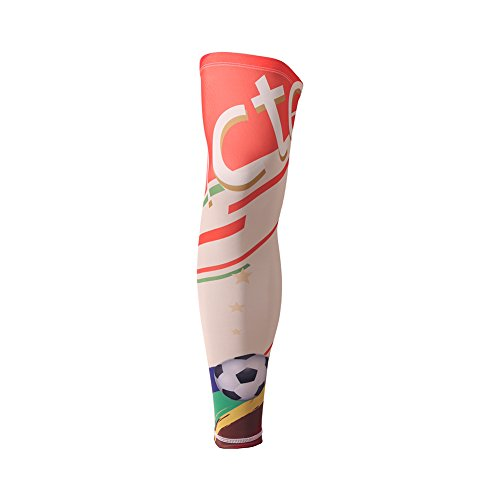 Cutogain Bein Knie langen Ärmeln Druck Sport Displayschutzfolie Gear für Radfahren Wandern Baseball Fußball Basketball, 2, Large