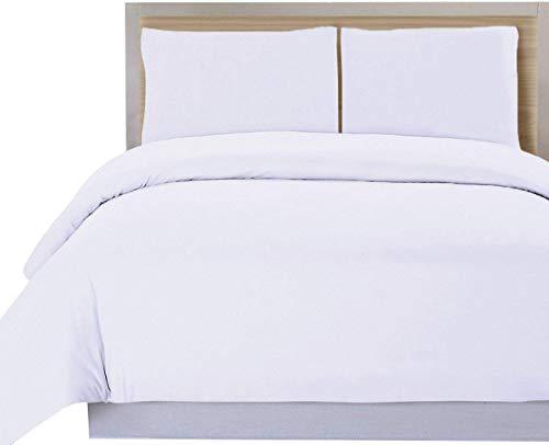 DHestia Hostelería - Funda Nórdica para Edredón Blanca Hotel 50% Algodón 50% Poliéster (250x240 cm - Cama 150)