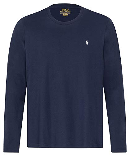 Polo Ralph Lauren Longsleeve Crew Neck Shirt Langarm Shirt Sleep Top M Navy (002)