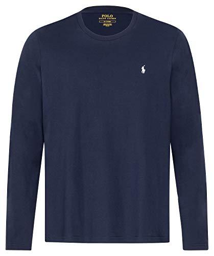 low priced b2a23 e27c9 Polo Ralph Lauren Men's Cotton Jersey Long Sleeve T-Shirt - Cruise Navy -  XXL - Blue