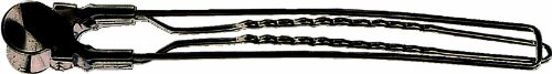 Fripac-Medis Jumbo-Haarclips aus Stahl, Karte mit 10 Stück, schwarz