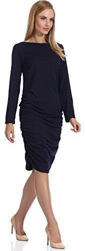 Merry Style Femme Robe Anja Navy Bleu