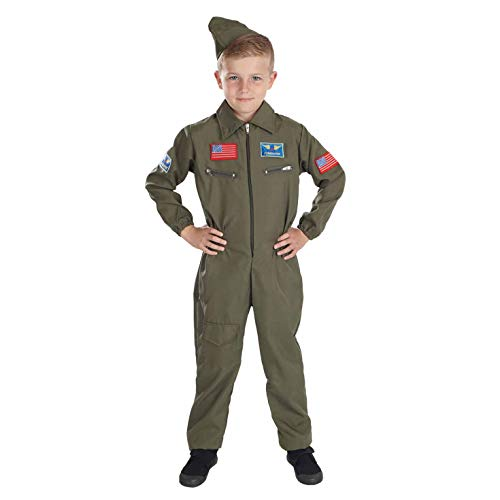 Fun Shack FNK2979S Kostüm, Boys, Military Pilot, Small (Age 4-6) (Military Pilot Kostüm)