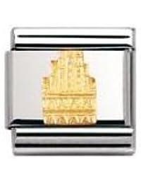 Nomination Composable Classic SYMB. DEUTSCHL. RELIEF Edelstahl und 18K-Gold (Dom von Munster) 030126