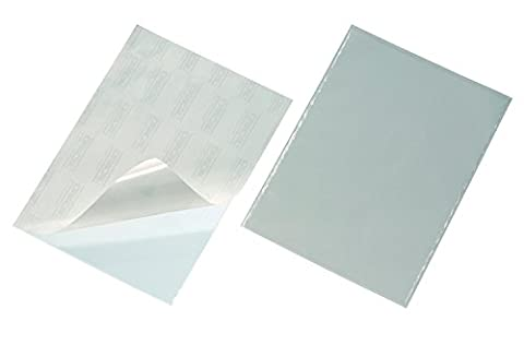 Durable 829519 Pocketfix Pochette Adhésive pour Document A4 Ouverture Petit Côté - Format Pochette 302 x 216 mm Sachet de 10