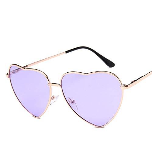 ZIYIZNL Sonnenbrillen Trend Retro Sonnenblende Liebe Sonnenbrille Ocean Film Serie Pfirsich Herz Brille Polarisierte Fahrspiegel, C - Pfirsich Vitamin C