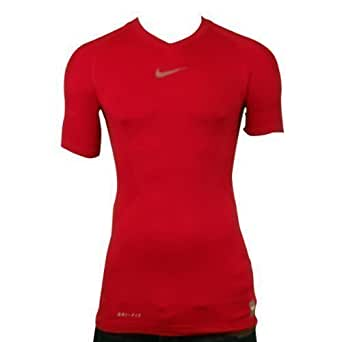 Mens Nike Pro Combat Hypercool Red S/S Sports Compression Baselayer Top XL