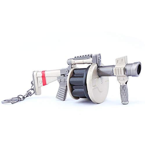 Mankecheng Juegos Metal 1/4 Granada Launcher Modelo Acción Figura Arte Juguetes Colección Llavero Regalo