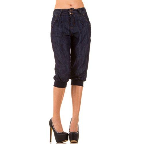Top-Fashion-Online - Vaqueros - para mujer Azul Blue - Blau KL- 8bed416b1198
