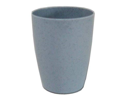 Zahnputzbecher, blau gesprenkelt, Sonja-PLASTIC, Made in Germany