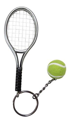 Gran llavero, joyas de bolsa raqueta + pelota de tenis.