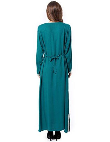 Muslim Abaya Dubai kleider für Frauen islamischen Kleid Islamische Kleidung muslimische Kaftan Rayon Gewand Jalabiya 1631 Grün