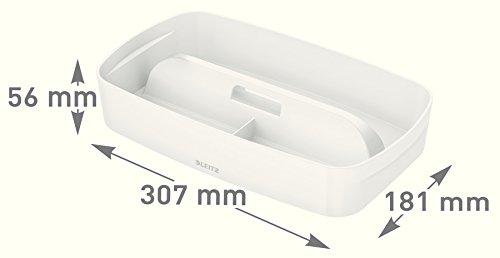 Leitz 53234001B 307x h 56x t 181mm, elegante Utensilios Carcasa o práctico Uso Para la myBox grande y pequeña, color blanco