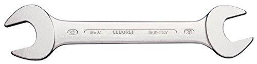 GEDORE 6 8x10 Doppelmaulschlüssel, Ausführung nach DIN 3110, hochwertige Industriequalität, Köpfe feingeschliffen, Blendfrei-Optik durch mattes Verchromen, 8x10 mm (10 X Metall 6)