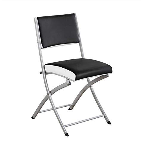 WYYY Bürostuhl Stuhl Falten Stark Stehlen Metall Rahmen PU Rutschfest Gepolstert Büro Computer Zurück Sich Ausruhen Sitz Durable stark (Farbe : No armrests)