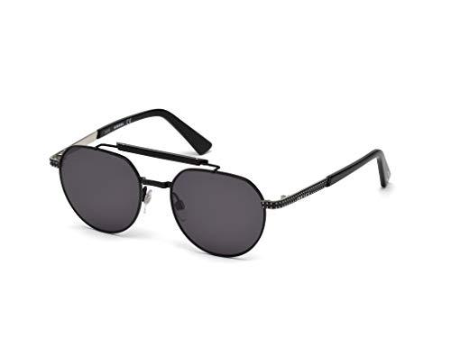 Diesel dl0239-01a-52, occhiali da sole uomo, nero (shiny black/smoke), 52.0