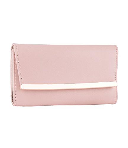 SIX Damen Portemonnaie, Brieftasche, klappbar, rosa (703-384)