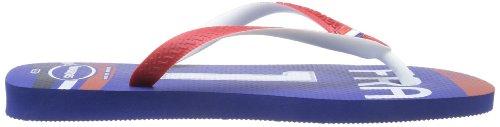 Havaianas Teams II white/black/red H4130533-3859 Unisex-Erwachsene Zehentrenner Azul (Blau)