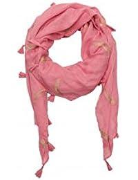 Foulard Lollipops Rose ZUME Plumes Dorées 17063958 MAHOGANY ROSE