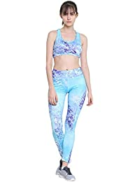 a9ab634105ca9 CHKOKKO Sports Bra and Yoga Pant Gym Wear Fitness Training Set for Women