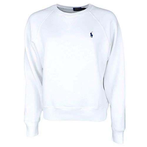 Ralph Lauren Damen Blouson Sweatshirt Gr. Medium, weiß