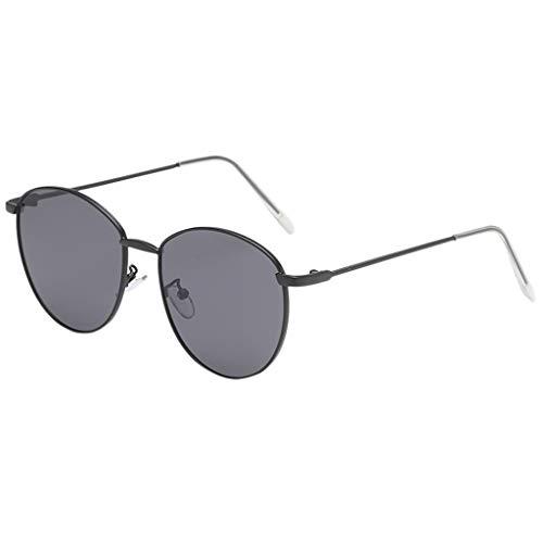 fazry Damen Herren Mode Persönlichkeit Unregelmäßige Form Metall Rahmen Sonnenbrille Vintage Punk Style Brille(E)