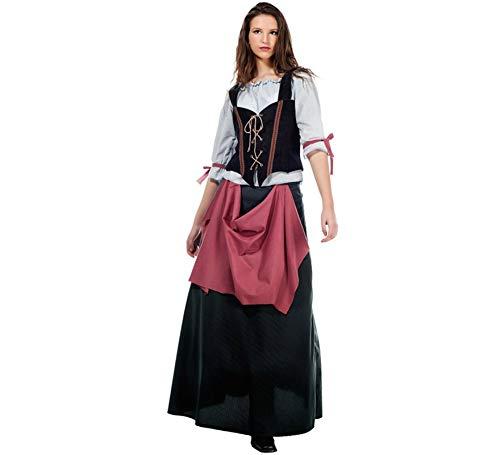 Elbenwald Mittelalter Wirtin Kostüm Damen grün rot Historisches Gewand für Feste u Karneval - - Historische Figur Kostüm