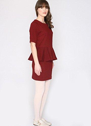 Pepaloves Damen Umstands-T-Shirt Delia Rot - Rot (Weinrot)