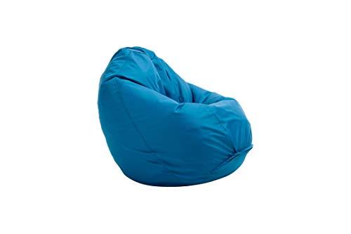 Bruni Sitzsack Classico M in Blau - Sitzsack mit Innensack zum Zocken & Lesen, Abnehmbarer Bezug, EPS-Perlen als Bean-Bag-Füllung, aus Deutschland