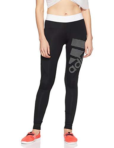 adidas Damen Ask SPR LG Tights, Black/White, S (Adidas Tights Logo)