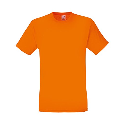 Fruit of the Loom Herren T-Shirt Original T 61-082-0 Orange XL
