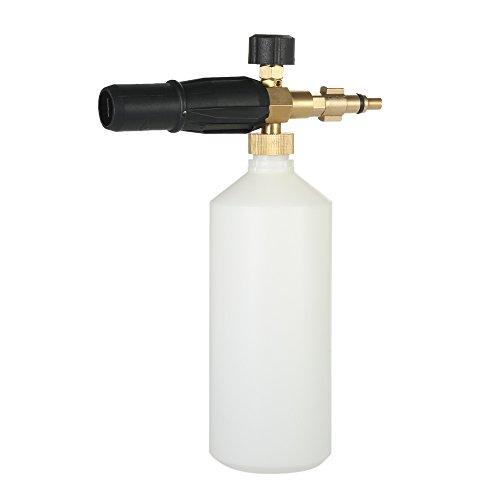 Zitainn Einstellbare Flasche, Schaumlanze Schneeschaum Düse Injektor Seifenschäumer für Nilfisk Hochdruckreiniger