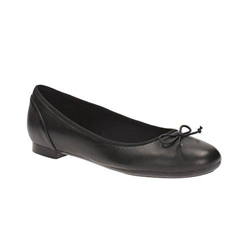 Clarks Habillé Femme Chaussures Couture Bloom En Cuir Noir Taille 40