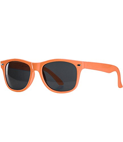 caripe Kinder Sonnenbrille Kinder Wayfarer Retro Design - barna (Einheitsgröße, rb-kid - orange)
