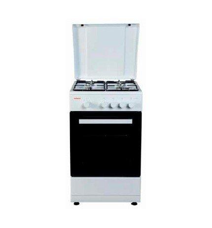 Cocina de cuatro fuegos de butano CORBERO CC4050WB, color blanco.