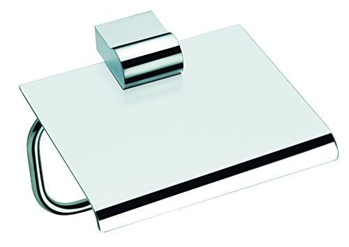 Baño Diseño Key - Portarrollos con tapa, inoxidable, color cromo brillante