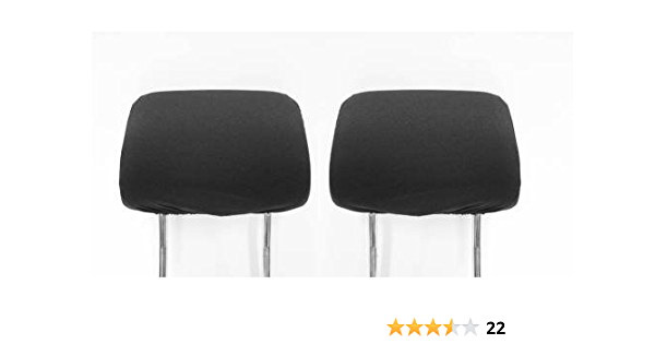 Zwei Kopfstützen Autositz Kopfstützenbezüge Schwarz Ovp Neu Auto