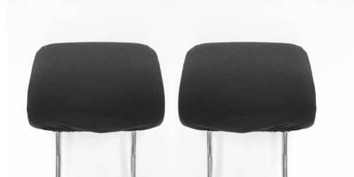 Zwei Kopfstützen Autositz Kopfstützenbezüge Schwarz Ovp Neu -
