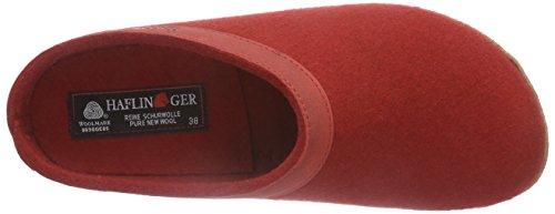 Haflinger 713001 Hausschuhe, Filztoffel Grizzly Torben, rubin Rubin
