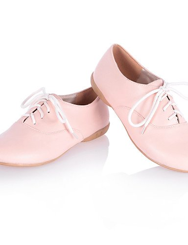 ZQ hug Scarpe Donna - Stringate - Casual - Punta arrotondata - Piatto - Finta pelle - Nero / Rosa / Bianco , pink-us8 / eu39 / uk6 / cn39 , pink-us8 / eu39 / uk6 / cn39 white-us6.5-7 / eu37 / uk4.5-5 / cn37