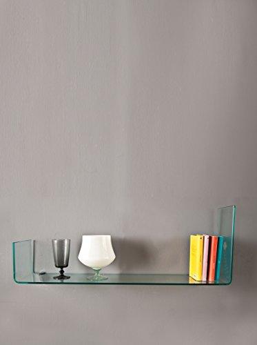 Stones we/013 mensola, vetro, trasparente, 100x22x36 cm