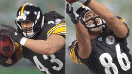Troy Polamalu and Hines Ward Pittsburgh Steelers 6 Action Figures Exclusive NFL Superbowl Champs