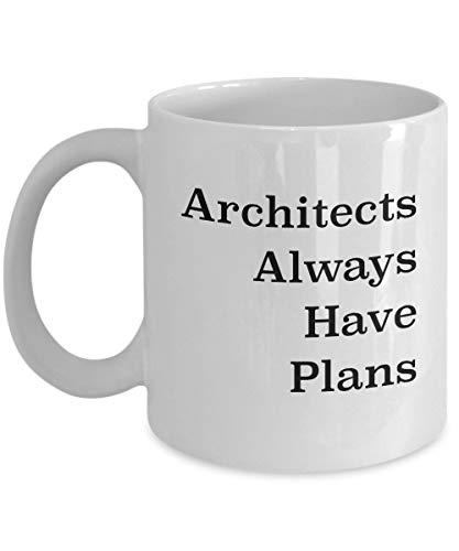TK.DILIGARM Architect Coffee Mug - Funny Architect Mug - Architect Gifts for Men Women Teens and Valentines Day - 11 oz White Ceramic