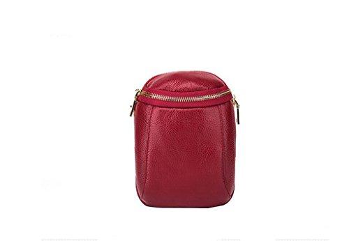 tracolla in pelle signora, sacchetto del messaggero, primo strato di pelle borse, totes, sacchetti Red wine