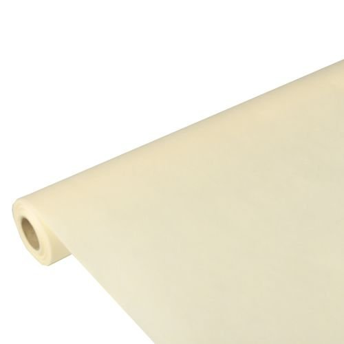 """Papstar Tischdecke / Tischtuchrolle creme \""""Soft Selection\"""" (1 Stück) 10 x 1.18 m aus PP-Vlies, stoffähnlich, umweltfreundlich, feuchtigkeitsresistent, abwaschbar, #82287"""