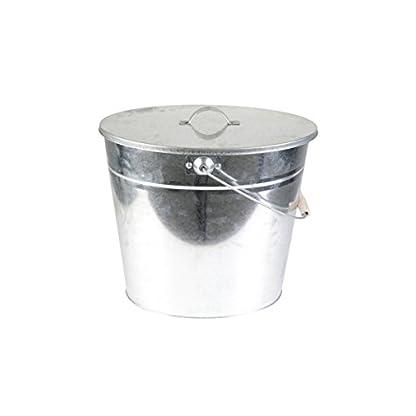 Kamino-Flam–Cubo para carbón (galvanizado, 24L con tapa